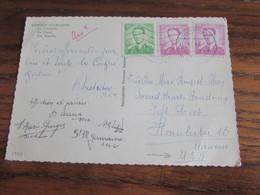 """Carte Vue De Banneux Affranchie Au Type """"MARCHAND"""" à 9,50fr Et Oblitérée Louveigne En 1965 Pour Les U.S.A. - Brieven En Documenten"""