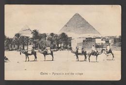 Egypt - Rare - Vintage Post Card - The Pyramids - Giza - 1866-1914 Khedivate Of Egypt