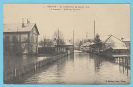 J.P.S. 12 - C.P. 36 - Inondations De 1910 - 5 - La Vacherie - Ecole Des Garçons - Troyes