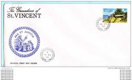 ST. VINCENT GRENADINES FDC 28 Y Bootsbau (Scan)(15116) - St.Vincent E Grenadine