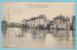 J.P.S. 12 - C.P. 38 - Inondations De 1910 - 8 - La Place Des Charmilles Et La Seine - Troyes