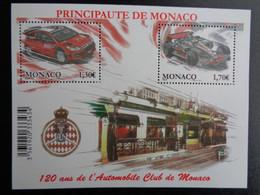 MONACO 2009 Y&T BLOC N° 95 ** - 120 ANS DE L'AUTOMOBILE CLUB DE MONACO - Unused Stamps