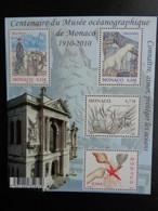 MONACO 2010 Y&T BLOC N°  ** - CENTENAIRE DU MUSEE OCEANOGRAPHIQUE DE MONACO 1910-2010 - Unused Stamps