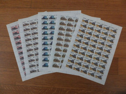 Tanzania, Trains, Railways, 1985, Locomotive, Full Set Sheets Of 50 Stamps MNH - Eisenbahnen