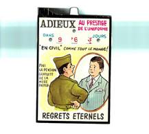 Thème - Militaria - Humour - Adieux Au Prestige De L'uniforme - Carte Système - Humorísticas