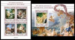 SIERRA LEONE 2020 - F. Boucher: Cupids With Arrows, M/S + S/S Official Issue [SRL200419] - Boogschieten