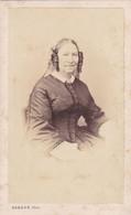 Photo Foto - Formato CDV - Donna Con Capelli Arricciati  - Years  '1860 - Antiche (ante 1900)