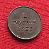 Guernsey 1 Double 1830 - Guernesey