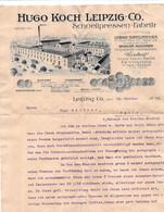 LEIPZIG  - Facture Illustrée - HUGO KOCH LEIPZIG-CO - SCHNELLPRESSEN FABRIK - 1900 – 1949
