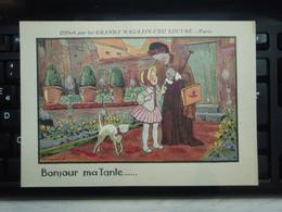 Coloriage Bonjour Ma TanteOfferts Par Les Grands Magasins Du Louvre - Paris - - Reclame