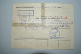 Belgique 1944 Libération Affectation Travail Allemagne - Historische Dokumente
