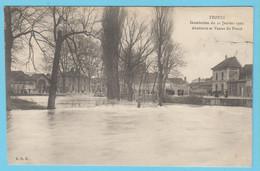 J.P.S. 12 - C.P. 62 - Inondations Du 21 Janvier 1910 - Abattoirs Et Vanne Du Pouce - Troyes