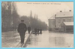 J.P.S. 12 - C.P. 63 - Inondations Du 21 Janvier 1910 - Mail St.-Dominique - Troyes