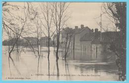 J.P.S. 12 - C.P. 67 - Inondations Du 21 Janvier 1910 - N° 4 - La Place Des Charmilles - Troyes