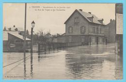 J.P.S. 12 - C.P. 68 - Inondations Du 21 Janvier 1910 - N° 5 - La Rue Du Voyer Et Les Charmilles - Troyes