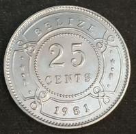 BELIZE - 25 CENTS 1981 - Elizabeth II - 1er Effigie - KM 36 - Belize