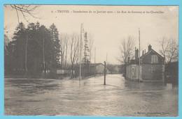 J.P.S. 12 - C.P. 69 - Inondations Du 21 Janvier 1910 - N° 6 - La Rue De Gournay Et Les Charmilles - Troyes