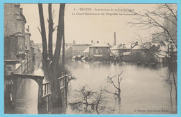 J.P.S. 12 - C.P. 71 - Inondations Du 21 Janvier 1910 - N° 8 - Le Grand Séminaire Et Les Propriétés Environnantes - Troyes