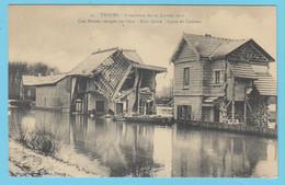 J.P.S. 12 - C.P. 76 - Inondations Du 21 Janvier 1910 - N° 25 - Une Maison Ravagée Par L'eau - Rive Droite - Ligne De C. - Troyes