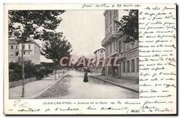 Juan Les Pins CPA Avenue De La Gare - Antibes