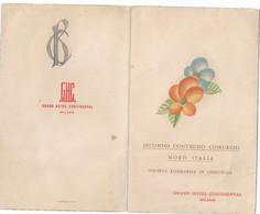 CARD MENU'   DISTINTA SECONDO CONVEGNO CHIRURGHI NORD ITALIA 1937 SOCIETA' LOMBARDA DI CHIRURGIA -2-0882-29626-628 - Menus