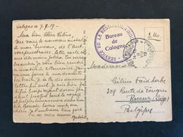 Postkaart 1919 POSTES MILITAIRES BELGIQUE > ROCOUR // SERVICE DE LA RESTITUTION INDUSTRIELLE - BUREAU DE COLOGNE - Sin Clasificación