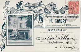 84 AVIGNON CARTE PUB Agence Immobiliere H GIBERT  RUE THEODORE AUBANEL - Avignon