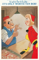 """Unused Sunshine Comic Card """"I Can't Help What You Gave For It Lady....."""" - Fumetti"""