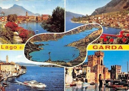 Italy Lago Di Garda, Lake Boats Harbour Castle Chateau Panorama Port Bateaux - Other