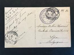 Postkaart 1929 POSTES MILITAIRES BELGIQUE > HAUTE COMMISSION INTERALLIE DES TERRITOIRES RHENANS - Sin Clasificación