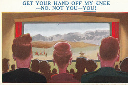 "Unused Sunshine Comic Card ""Get Your Hand Off My Knee....."" - Fumetti"
