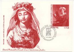 Pseudo-entier Postal 2003 Elisabeth Vignée Lebrun Portrait De Mademoiselle De Bonneuil YT 3526 Du 0/01/2003 - Pseudo-interi Di Produzione Ufficiale