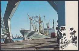 "RUSSIA POSTCARD Mint SHIP ""Krasnouralsk"" BALTIC SHIPPING Leningrad CARGO BATEAU TRANSPORT Port Harbour BSCo USSR K2 - Commercio"