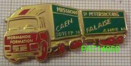 CAMION MISSION ST PETERSBOURG CAEN FALAISE NORMANDIE FORMATION  ANPE 14 En Version ZAMAC Cabine Rouge Bache Verte - Transportation