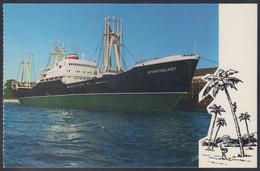 "RUSSIA POSTCARD Mint SHIP ""ArkhangelskLes"" BALTIC SHIPPING Leningrad CARGO BATEAU TRANSPORT Port Harbour BSCo USSR K2 - Commercio"