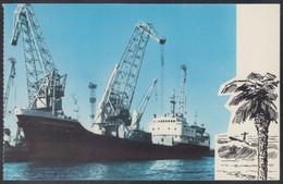 "RUSSIA POSTCARD Mint SHIP ""Sovetsky Pogranichnik"" BALTIC SHIPPING Leningrad CARGO BATEAU TRANSPORT Port BSCo USSR K2 - Commercio"