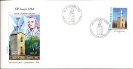 """MTAM """"TELEGRAPHE CHAPPE CASTELNAUDARY"""" Sur Enveloppe Avec Cachet Commemoratif 28-29/4/2018 - Personalized Stamps (MonTimbraMoi)"""