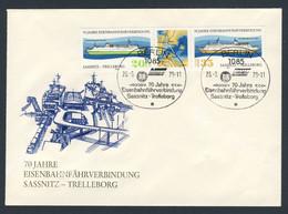 DDR Germany 1979 Brief Cover - 70 Jahre Eisenbahnfährverbindung Sassnitz - Trelleborg - Königslinie / Railway Ferry - Trains