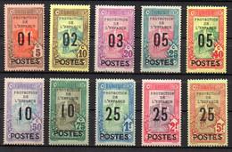 Col17  Colonie Tunisie  N° 110 à 119 Neuf X MH  Cote 110,00€ - Unused Stamps