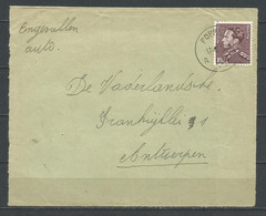 848A Op Briefstuk Gestempeld POPPEL A - 1936-1951 Poortman