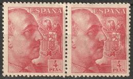 Spain 1949 Sc 704a  Pair MH/MNH - 1931-50 Nuevos & Fijasellos
