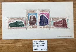 CENTRAFRIQUE 1963 Mi Bloc 1  - YT BF 1 MNH NEUF POSTFRISCH TRAIN CV 15€ - Centraal-Afrikaanse Republiek