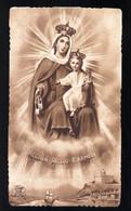 VECCHIO SANTINO  ORIGINALE -  MADONNA DEL CARMINE COMPOSTA DI S. ALFONSO - HOLY CARD - IMAGE PIEUSE ( H535 ) - Devotion Images