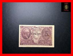 ITALY 5 Lire  23.11.1944  P.  31  Sig. Ventura - Simoneschi - Giovinco   XF   [MM-Money] - Regno D'Italia – 5 Lire