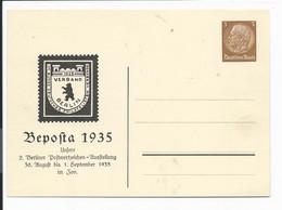 DR PP 122 C 11 ** -  3 Pf  Hindenburg Med. Berlin Beposta 1935 - Postwaardestukken