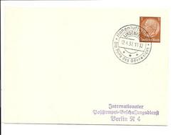 DR PP 122  A 1-01  - 3 Pf  HindenburgMed. Blanko-Karte M. Werbestempel Lindenfels - Perle Des Odenwalds - Postwaardestukken