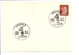 DR PP 152 A 1  - 3 Pf Hitler  Blanko-Karte  M. Sonderstempel Krefeld KdF-Werbeschau 1942 - Postwaardestukken