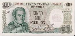 CHILE=N/D     5000  ESCUDOS     P-147    UNC - Chile