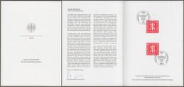 """Bund: Minister Card - Ministerkarte Typ VII, Mi-Nr. 3564 ESST: """" - 75 Jahre AM-POST-Marken -  """" X - Covers & Documents"""