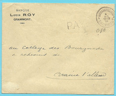 Brief Stempel GEERAARDSBERGEN / GRAMMONT , Met Stempel PAYE  (noodstempel) - Foruna (1919)